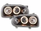 Náhled: AKCE - Přední světla Angel Eyes na VW Golf 3